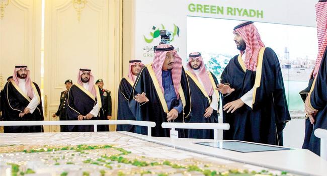 الملك سلمان بن عبدالعزيز و ولي العهد محمد بن سلمان
