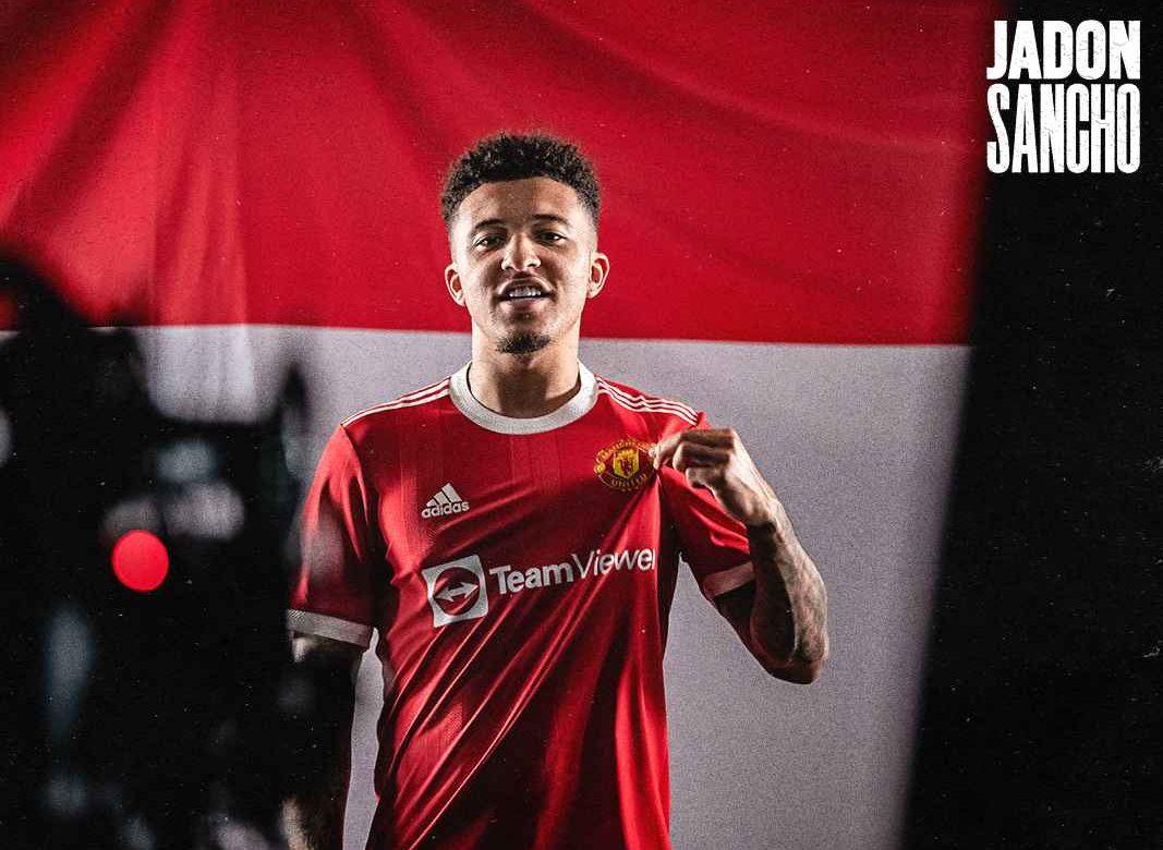 جادون سانشو ينتقل إلى مانشستر يونايتد الإنجليزي